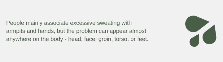 hyperhidrosis areas